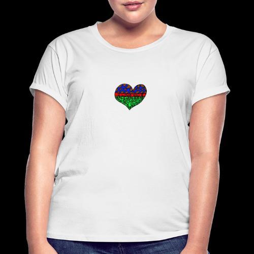 Herz Leben Welt Love you green - Frauen Oversize T-Shirt