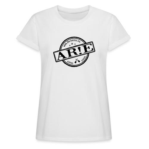 Backdrop AR E stempel zwart gif - Vrouwen oversize T-shirt