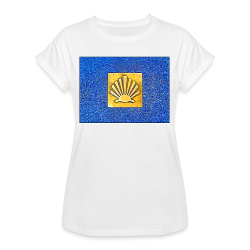 Scallop Shell Camino de Santiago - Women's Oversize T-Shirt