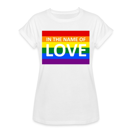 IN THE NAME OF LOVE RETRO T-SHIRT - Dame oversize T-shirt