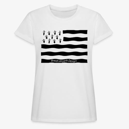 Gwenn ha Du-Noir fond transparent - T-shirt oversize Femme
