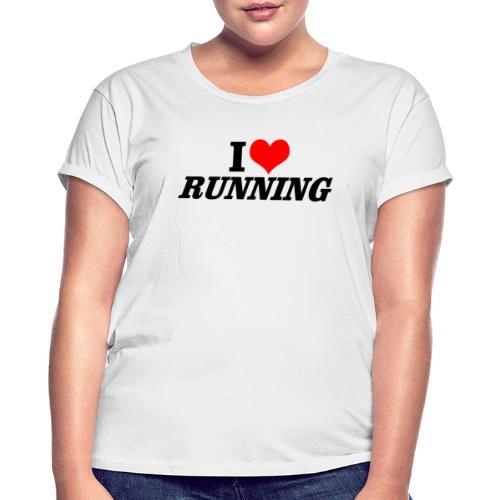 I love running - Frauen Oversize T-Shirt