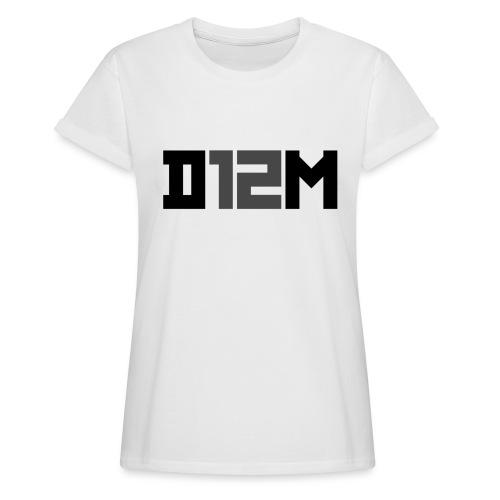 D12M: SHORT BLACK - Vrouwen oversize T-shirt