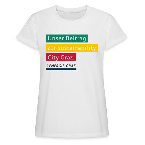 Energie Graz Vision - Frauen Oversize T-Shirt