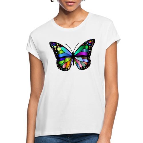 Kolorwy Motyl - Koszulka damska oversize