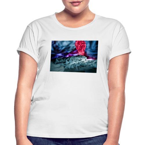 Vulkanausbruch - Frauen Oversize T-Shirt