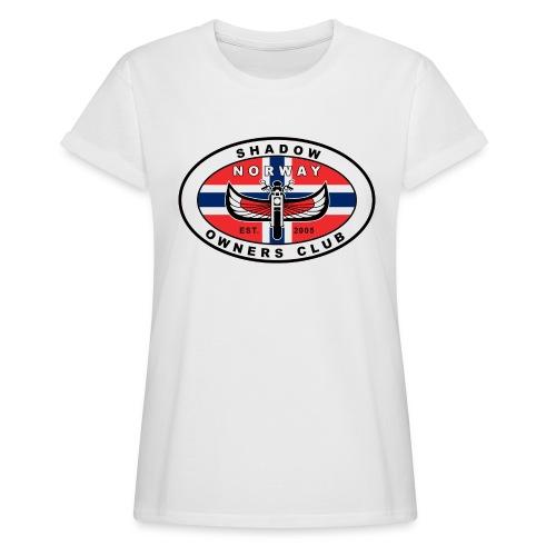 SHOC Norway Patch jpg - Oversize T-skjorte for kvinner