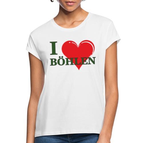Ich liebe Böhlen. - Frauen Oversize T-Shirt