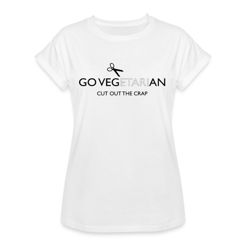 Go Vegan cut out the crap - Women's Oversize T-Shirt