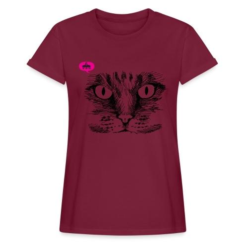 kattegezicht vdh - Vrouwen oversize T-shirt