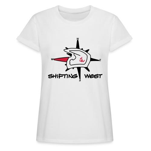 Shifting West Logo vector - Vrouwen oversize T-shirt