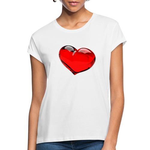 serce 3D - Koszulka damska oversize