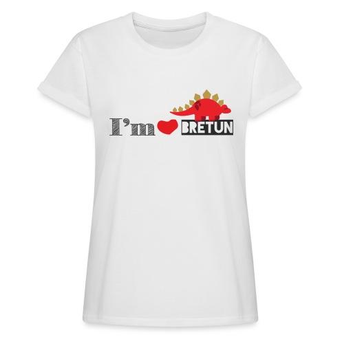 bretun negro - Camiseta holgada de mujer