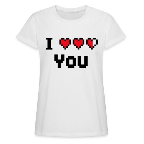 I pixelhearts you - Vrouwen oversize T-shirt