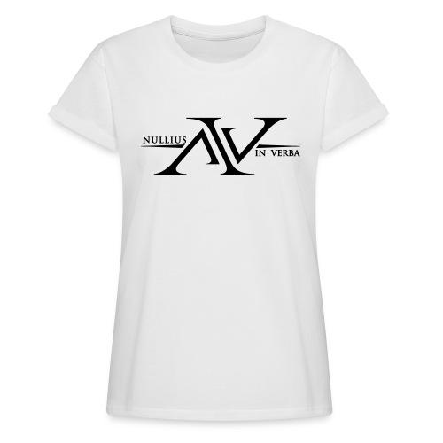 Nullius In Verba Logo - Women's Oversize T-Shirt