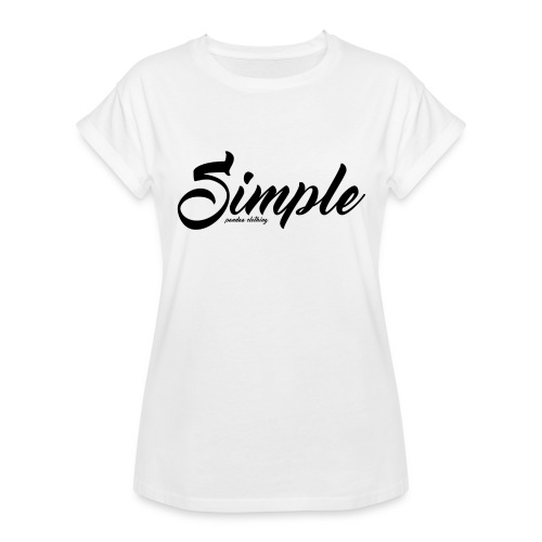 Simple: Clothing Design - Women's Oversize T-Shirt