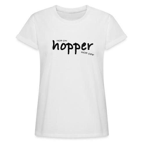 MuchoHop Hop On/Off (black) - Camiseta holgada de mujer