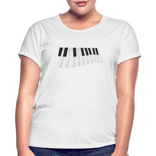 Une certaine perspective du piano en noir et blanc - T-shirt oversize Femme