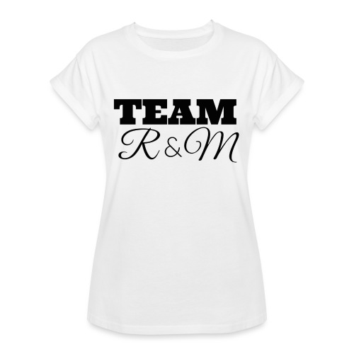Snapback team r&m - Women's Oversize T-Shirt