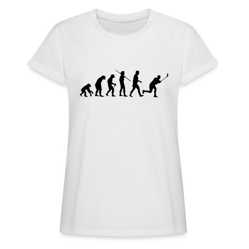 Floorball Evolution Black - Frauen Oversize T-Shirt