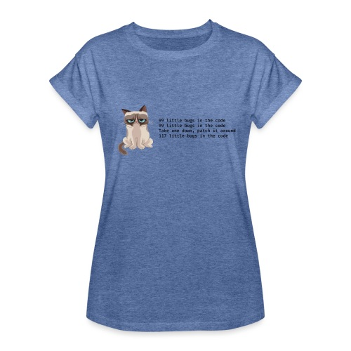 99 litle bugs of code - Vrouwen oversize T-shirt