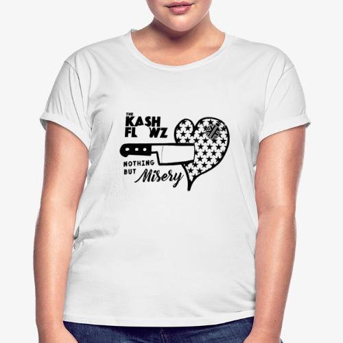 Nothing But Misery Knife Heart Black - T-shirt oversize Femme