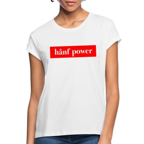 Hanf Power RED - Frauen Oversize T-Shirt