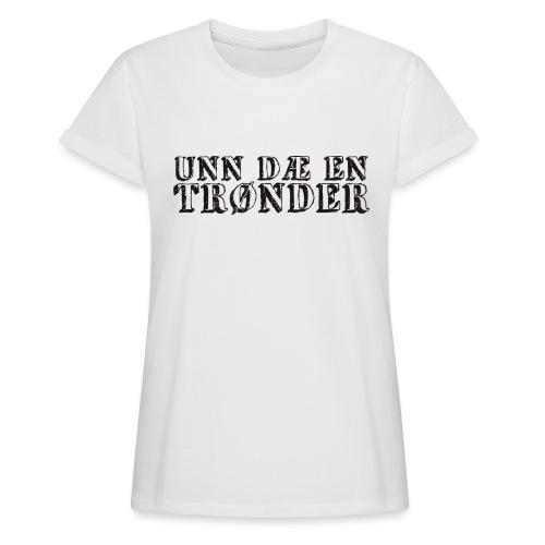 unndae - Oversize T-skjorte for kvinner