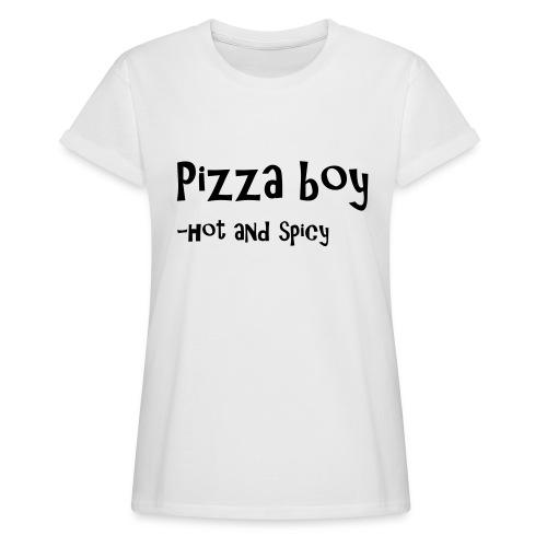 Pizza boy - Oversize T-skjorte for kvinner