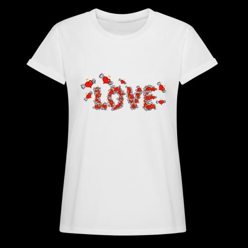 Flying Hearts LOVE - Women's Oversize T-Shirt