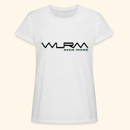 WLRM Schriftzug black png - Frauen Oversize T-Shirt
