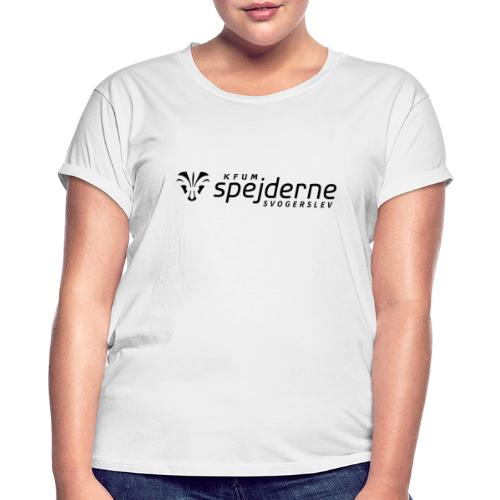 Logo i Sort - Dame oversize T-shirt