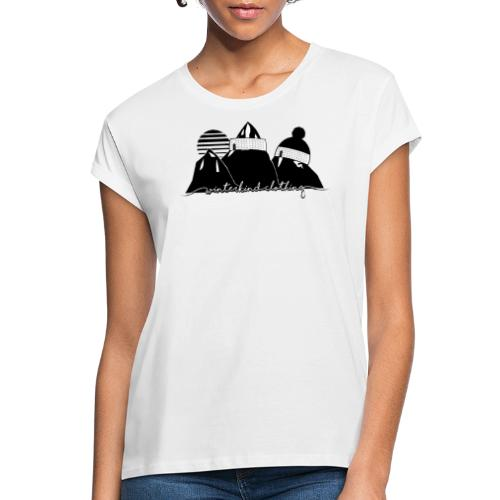 winterkind oldschool sticker - Frauen Oversize T-Shirt