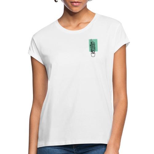 Kleiner Designer Kaktus - Frauen Oversize T-Shirt