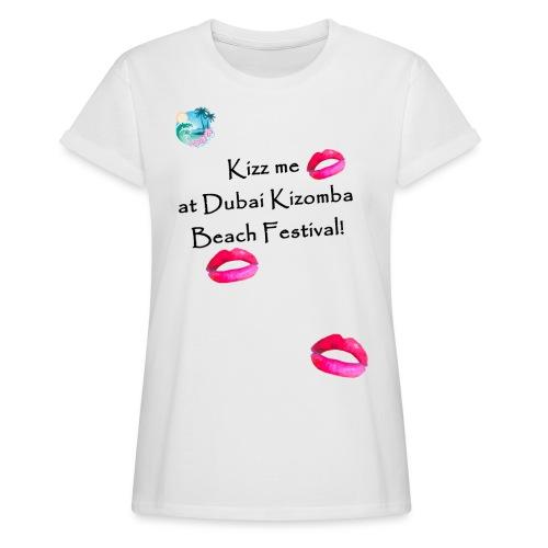 Perfect lips design black text variation 3 - Women's Oversize T-Shirt