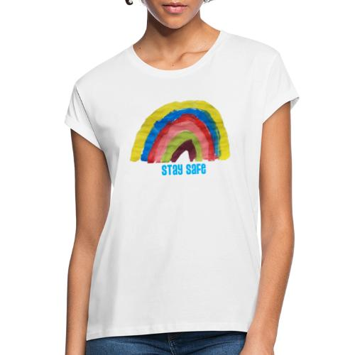 Stay Safe Rainbow Tshirt - Women's Oversize T-Shirt
