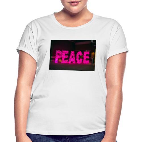 paz - Camiseta holgada de mujer