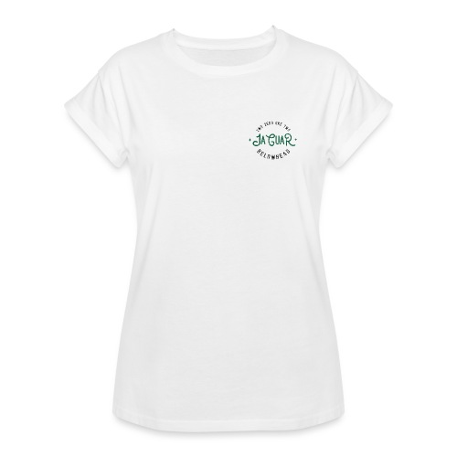 wild front green on white - Frauen Oversize T-Shirt
