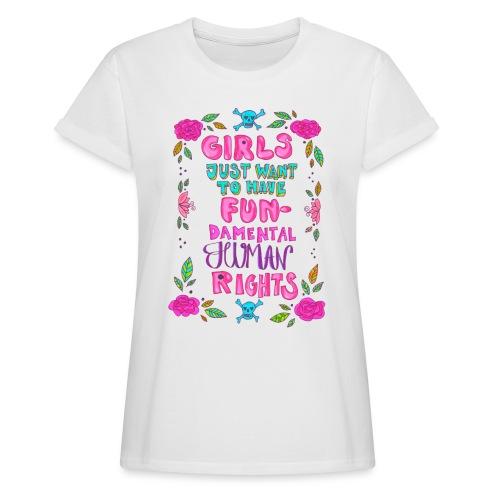 Fundamental human rights - Oversize-T-shirt dam