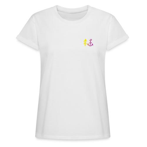 Yellow to Violett - Frauen Oversize T-Shirt