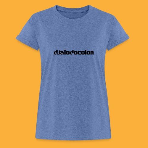 DJATODOCOLOR LOGO NEGRO - Camiseta holgada de mujer