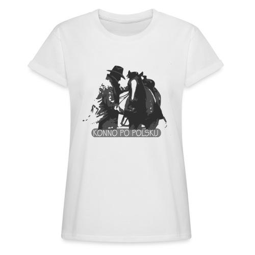 horse2 - Koszulka damska oversize