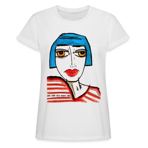 Jag går min egen väg - Oversize-T-shirt dam