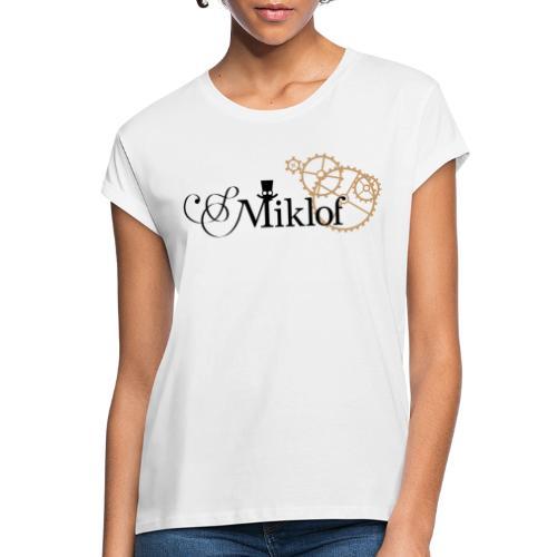 miklof logo black gold 3000px - Women's Oversize T-Shirt