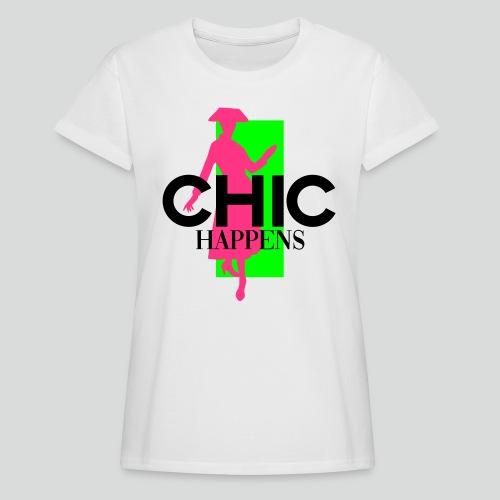 chic happens - Frauen Oversize T-Shirt