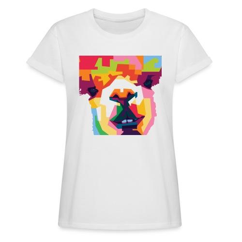 Alpaka WPAP Design - Frauen Oversize T-Shirt
