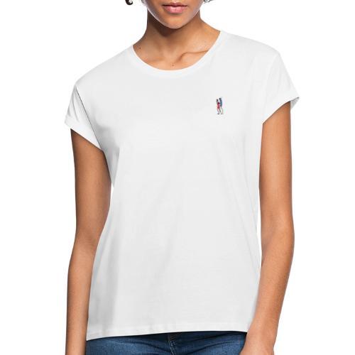 2 People Walking Isolated - Dame oversize T-shirt