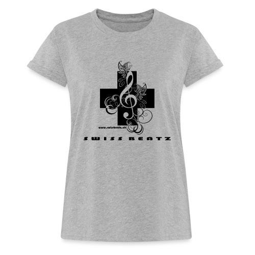 Swiss Beatz Logo with L - Frauen Oversize T-Shirt