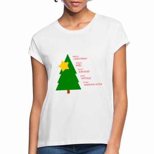 Merry Christmas Joyeux Noël Feliz Navidad - T-shirt oversize Femme