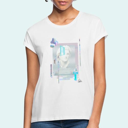 Glitch art - Dame oversize T-shirt